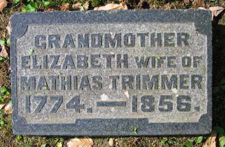 TRIMMER, ELIZABETH - Clark County, Ohio | ELIZABETH TRIMMER - Ohio Gravestone Photos