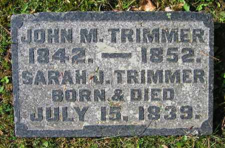 TRIMMER, JOHN M. - Clark County, Ohio | JOHN M. TRIMMER - Ohio Gravestone Photos