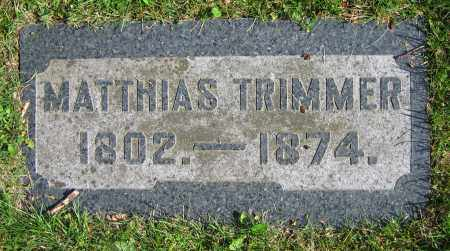 TRIMMER, MATTHIAS - Clark County, Ohio | MATTHIAS TRIMMER - Ohio Gravestone Photos