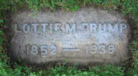 TRUMP, LOTTIE M. - Clark County, Ohio | LOTTIE M. TRUMP - Ohio Gravestone Photos