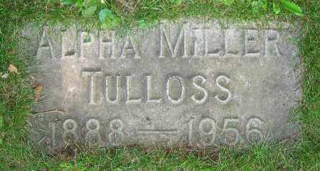 TULLOSS, ALPHA - Clark County, Ohio | ALPHA TULLOSS - Ohio Gravestone Photos