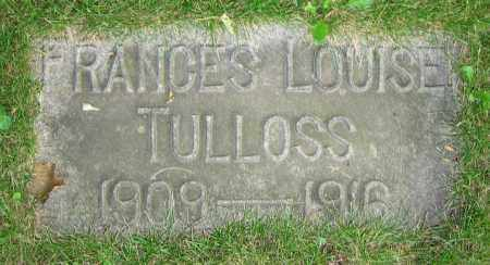 TULLOSS, FRANCES LOUISE - Clark County, Ohio | FRANCES LOUISE TULLOSS - Ohio Gravestone Photos