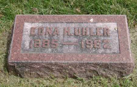 HARVEY UHLER, EDNA - Clark County, Ohio | EDNA HARVEY UHLER - Ohio Gravestone Photos