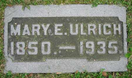 ULRICH, MARY E. - Clark County, Ohio | MARY E. ULRICH - Ohio Gravestone Photos