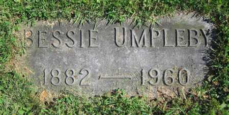UMPLEBY, BESSIE - Clark County, Ohio | BESSIE UMPLEBY - Ohio Gravestone Photos
