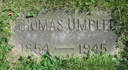 UMPLEBY, THOMAS - Clark County, Ohio | THOMAS UMPLEBY - Ohio Gravestone Photos