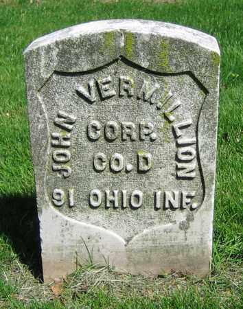 VERMILLION, JOHN - Clark County, Ohio | JOHN VERMILLION - Ohio Gravestone Photos