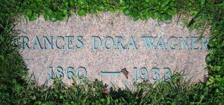 WAGNER, FRANCES DORA - Clark County, Ohio | FRANCES DORA WAGNER - Ohio Gravestone Photos