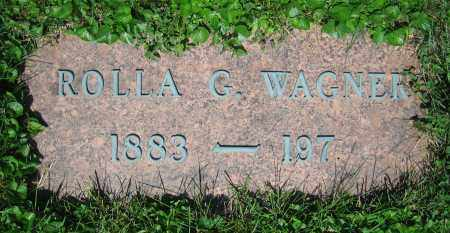 WAGNER, ROLLA G. - Clark County, Ohio | ROLLA G. WAGNER - Ohio Gravestone Photos
