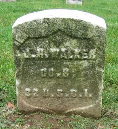WALKER, J.H. - Clark County, Ohio | J.H. WALKER - Ohio Gravestone Photos