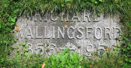 WALLINGSFORD, RICHARD - Clark County, Ohio | RICHARD WALLINGSFORD - Ohio Gravestone Photos