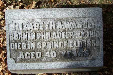 WARDER, ELIZABETH A - Clark County, Ohio | ELIZABETH A WARDER - Ohio Gravestone Photos