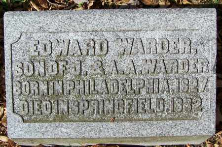 WARDER, EDWARD - Clark County, Ohio | EDWARD WARDER - Ohio Gravestone Photos