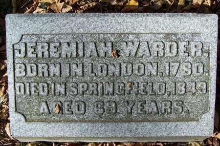 WARDER, JEREMIAH - Clark County, Ohio | JEREMIAH WARDER - Ohio Gravestone Photos