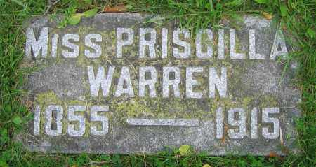WARREN, PRISCILLA  (MISS) - Clark County, Ohio | PRISCILLA  (MISS) WARREN - Ohio Gravestone Photos