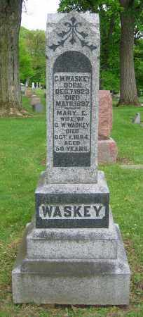 WASKEY, MARY E. - Clark County, Ohio | MARY E. WASKEY - Ohio Gravestone Photos
