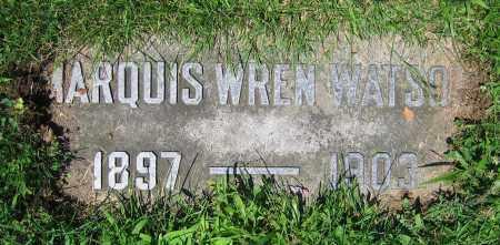 WATSON, MARQUIS WREN - Clark County, Ohio | MARQUIS WREN WATSON - Ohio Gravestone Photos