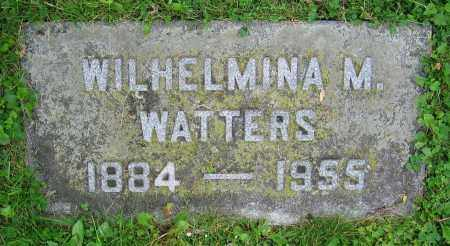 WATTERS, WILHELMINA M. - Clark County, Ohio | WILHELMINA M. WATTERS - Ohio Gravestone Photos