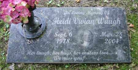 WAUGH, HEIDI VIVIAN - Clark County, Ohio   HEIDI VIVIAN WAUGH - Ohio Gravestone Photos