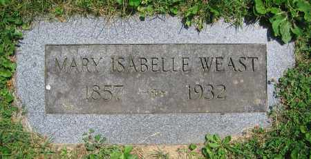 WEAST, MARY ISABELLE - Clark County, Ohio | MARY ISABELLE WEAST - Ohio Gravestone Photos