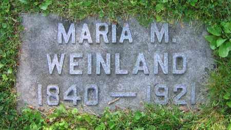 WEINLAND, MARIA M. - Clark County, Ohio | MARIA M. WEINLAND - Ohio Gravestone Photos