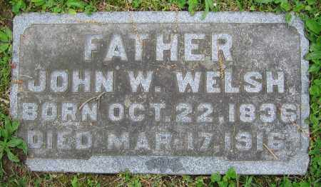 WELSH, JOHN W. - Clark County, Ohio | JOHN W. WELSH - Ohio Gravestone Photos