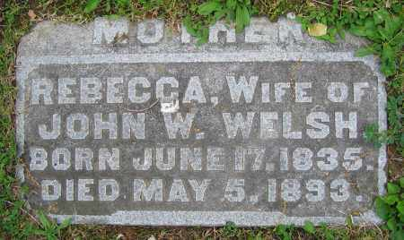 WELSH, REBECCA - Clark County, Ohio | REBECCA WELSH - Ohio Gravestone Photos