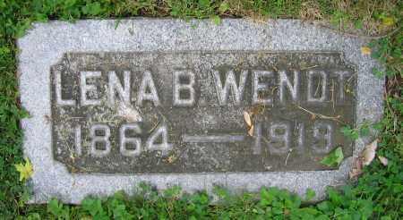 WENDT, LENA B. - Clark County, Ohio | LENA B. WENDT - Ohio Gravestone Photos