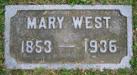 WEST, MARY - Clark County, Ohio | MARY WEST - Ohio Gravestone Photos