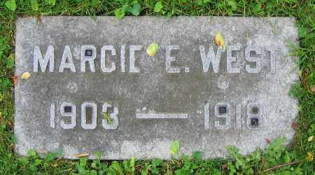WEST, MARCIE E. - Clark County, Ohio | MARCIE E. WEST - Ohio Gravestone Photos