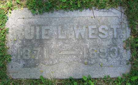WEST, RUIE L. - Clark County, Ohio | RUIE L. WEST - Ohio Gravestone Photos
