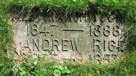 RICE, ANDREW - Clark County, Ohio | ANDREW RICE - Ohio Gravestone Photos