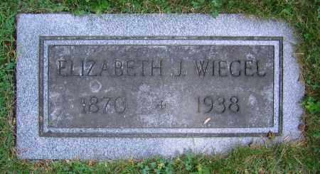 WIEGEL, ELIZABETH J. - Clark County, Ohio | ELIZABETH J. WIEGEL - Ohio Gravestone Photos