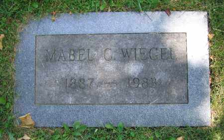 WIEGEL, MABEL C. - Clark County, Ohio | MABEL C. WIEGEL - Ohio Gravestone Photos