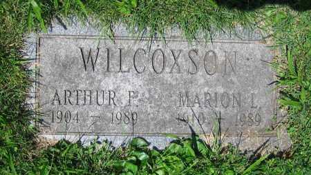WILCOXSON, ARTHUR F. - Clark County, Ohio | ARTHUR F. WILCOXSON - Ohio Gravestone Photos