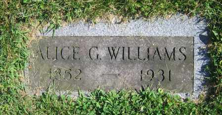 WILLIAMS, ALICE G. - Clark County, Ohio | ALICE G. WILLIAMS - Ohio Gravestone Photos