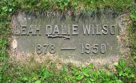 WILSON, LEAH - Clark County, Ohio | LEAH WILSON - Ohio Gravestone Photos