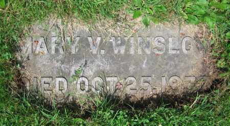 WINSLOW, MARY V. - Clark County, Ohio | MARY V. WINSLOW - Ohio Gravestone Photos