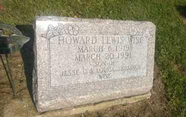 WISE, HOWARD LEWIS - Clark County, Ohio | HOWARD LEWIS WISE - Ohio Gravestone Photos