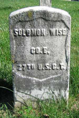 WISE, SOLOMON - Clark County, Ohio | SOLOMON WISE - Ohio Gravestone Photos