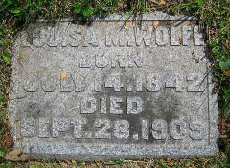 WOLFE, LOUISA M. - Clark County, Ohio | LOUISA M. WOLFE - Ohio Gravestone Photos