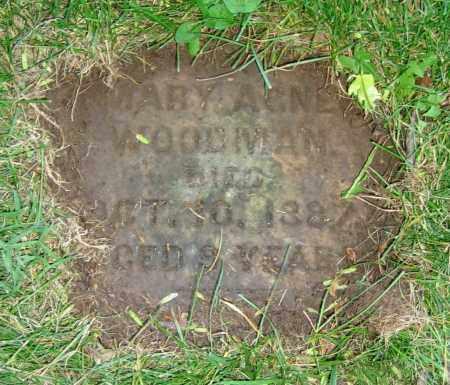 WOODMAN, MARY AGNES - Clark County, Ohio | MARY AGNES WOODMAN - Ohio Gravestone Photos