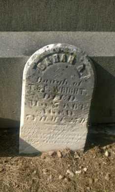 WRIGHT, SARAH A. - Clark County, Ohio | SARAH A. WRIGHT - Ohio Gravestone Photos