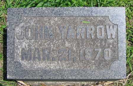 YARROW, JOHN - Clark County, Ohio | JOHN YARROW - Ohio Gravestone Photos