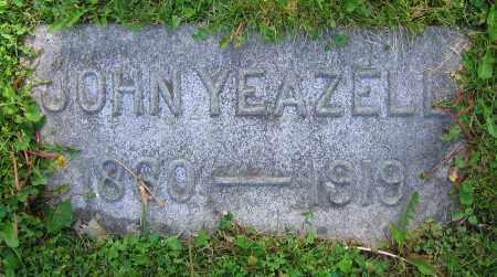 YEAZELL, JOHN - Clark County, Ohio | JOHN YEAZELL - Ohio Gravestone Photos