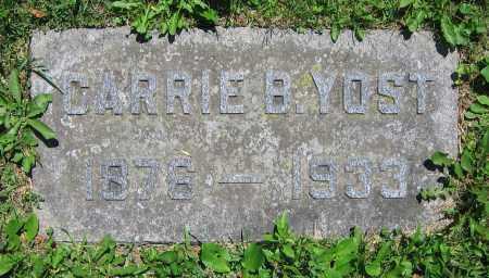 YOST, CARRIE B. - Clark County, Ohio | CARRIE B. YOST - Ohio Gravestone Photos