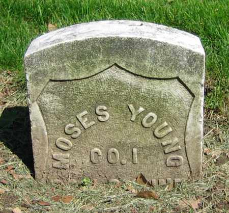 YOUNG, MOSES - Clark County, Ohio | MOSES YOUNG - Ohio Gravestone Photos