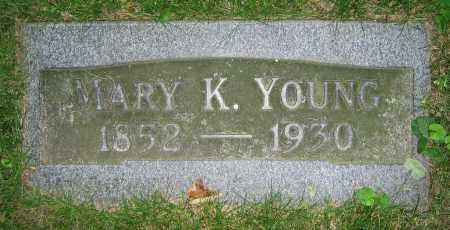 YOUNG, MARY K. - Clark County, Ohio | MARY K. YOUNG - Ohio Gravestone Photos