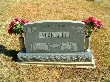 ALBRIGHT, JOHN G - Clermont County, Ohio | JOHN G ALBRIGHT - Ohio Gravestone Photos