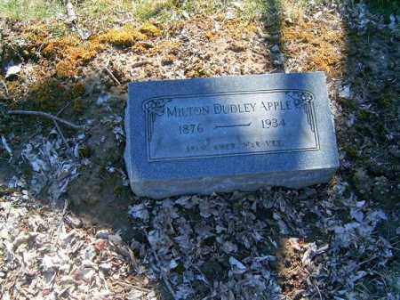 APPLE, MILTON  DUDLEY - Clermont County, Ohio | MILTON  DUDLEY APPLE - Ohio Gravestone Photos